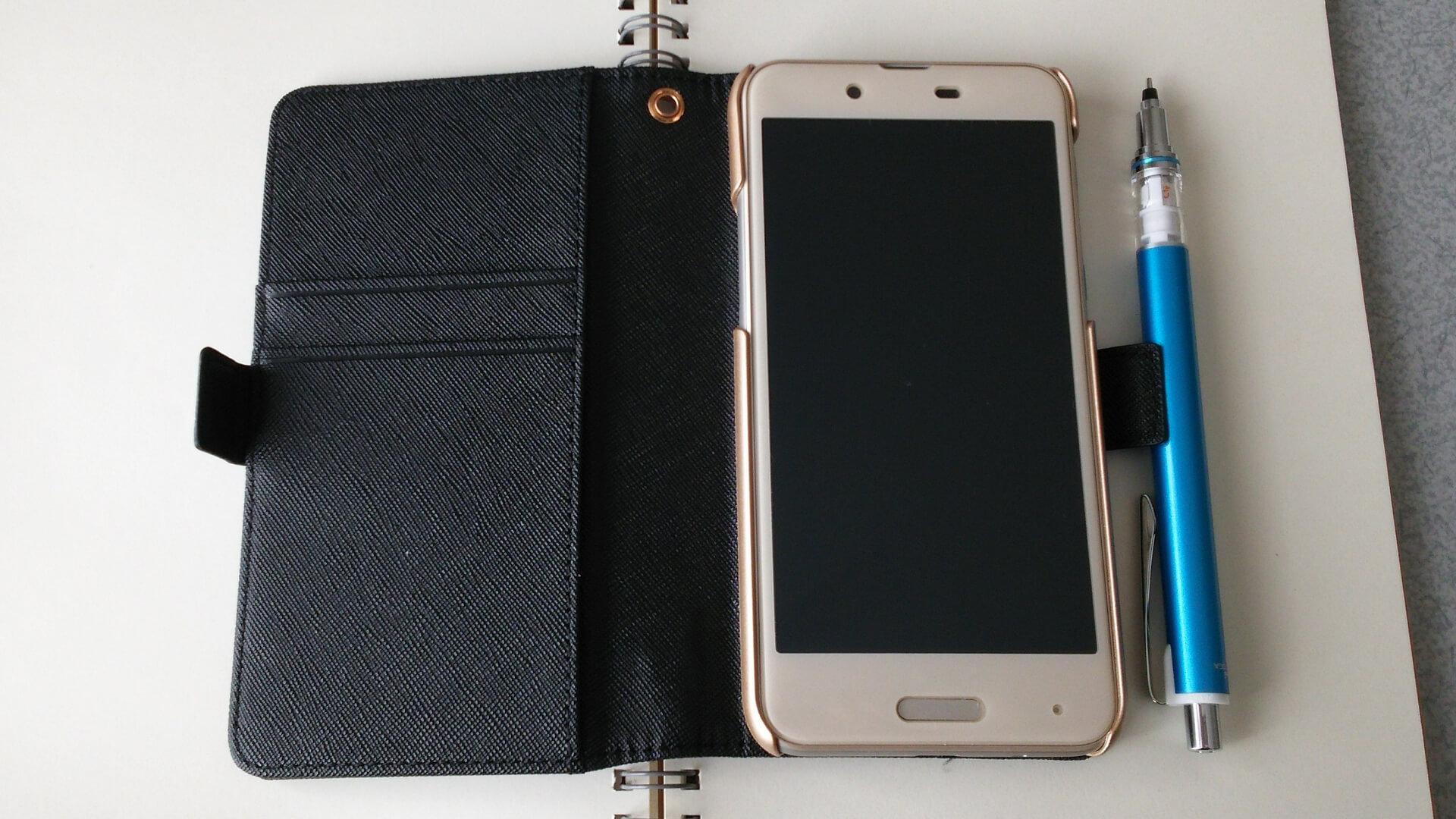 手帳型のiPhoneケースイメージ