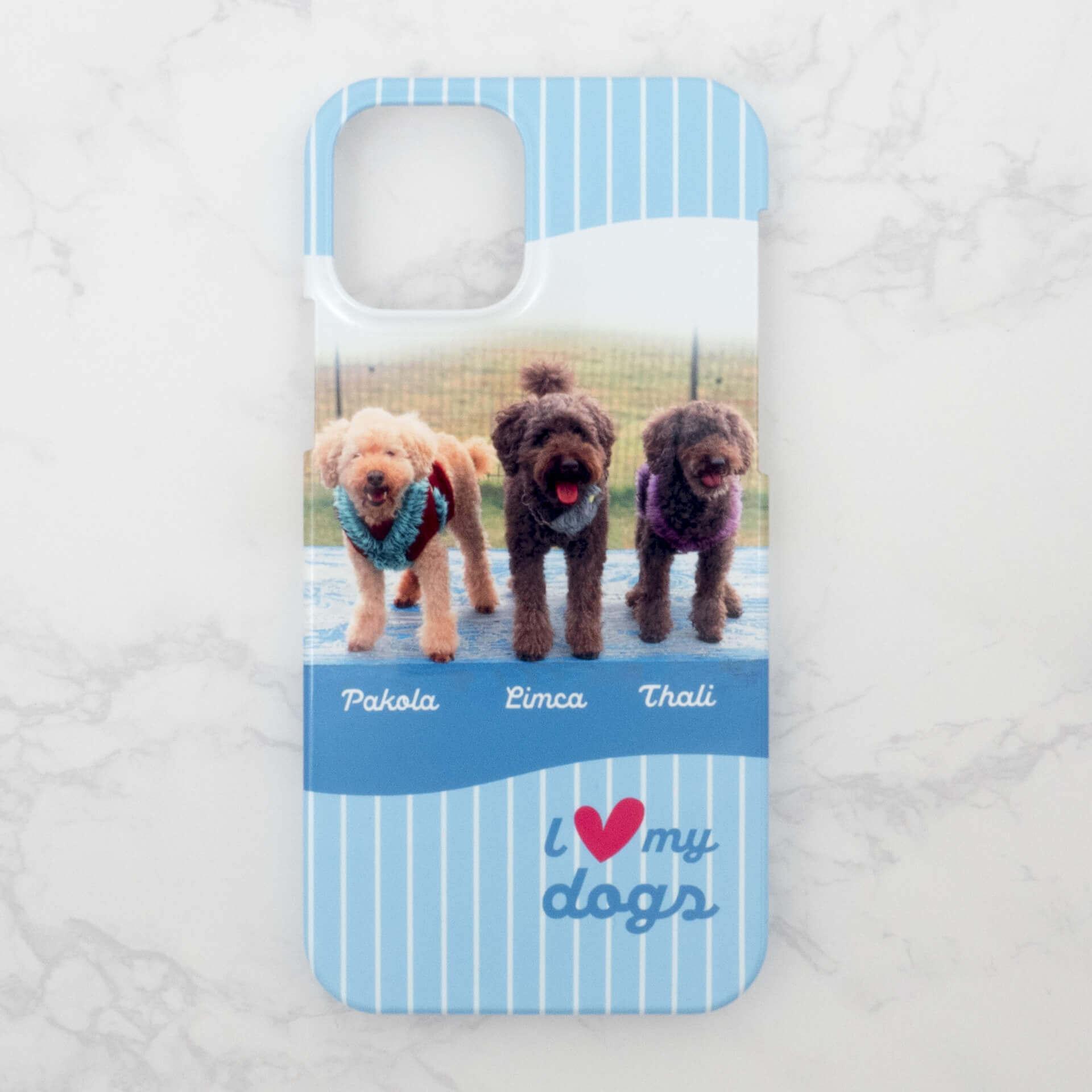 3匹の愛犬のiPhoneケース画像1